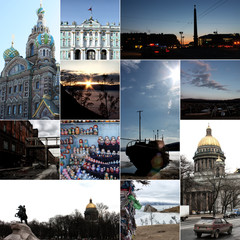 Russland, Reise Collage
