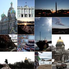 Russland, Reise Collage