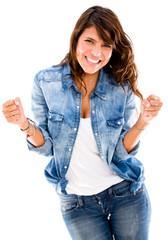 Happy successful woman