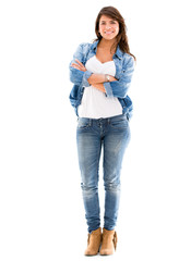 Casual woman in denim