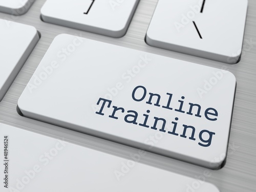 Online Training - Button on Keyboard.
