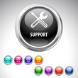 Support button- 9 color set.