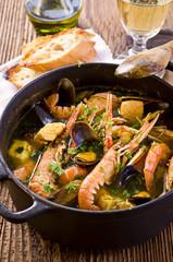Meerefrüchtesuppe Bouillabaisse