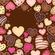 chocolate background for text with heart