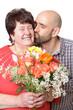 Sohn bedankt sich bei seiner Mutter