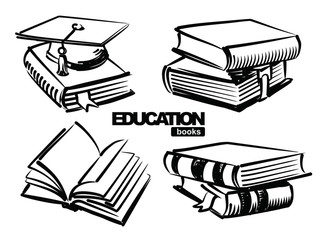 illustration of books