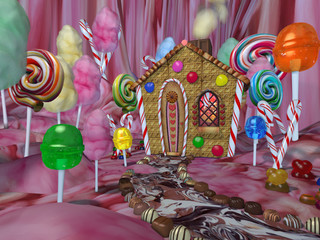 jardin en bonbons