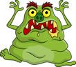 Постер, плакат: Ugly monster cartoon