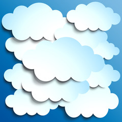 Vector Clouds background