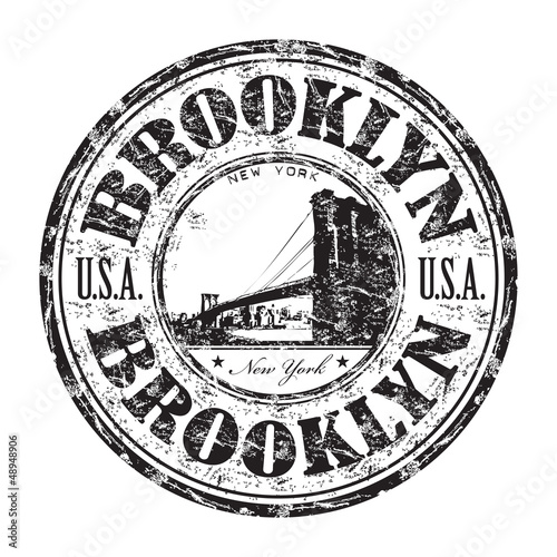 Brooklyn grunge rubber stamp © Oxlock