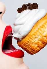 Glamour,valentines,passionate lips and muffin