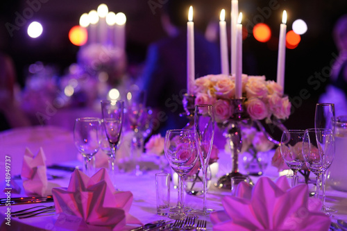 Table set for an event party - 48949737