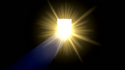 Licht hinter Türe