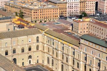 Cortile del Belvedere dalla Cupola di San Pietro