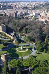 Giardini Vaticani visti dalla Cupola di San Pietro