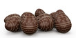 Candy easter eggs made ofchocolate