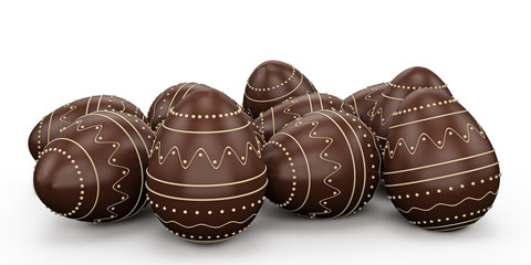 Candy easter eggs made ​​ofchocolate