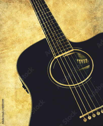 retro guitar background