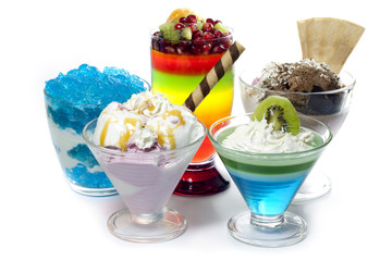 Colorful desserts mixed assortment
