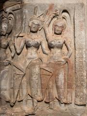 Apsara or Devatas - Angkor Wat temple, Siem Reap Cambodia