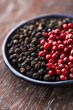 Black and pink peppercorns