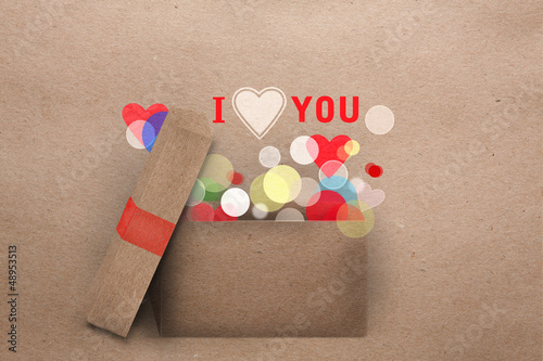 Paper applique Valentine greeting card