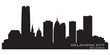 Oklahoma City skyline. Detailed silhouette