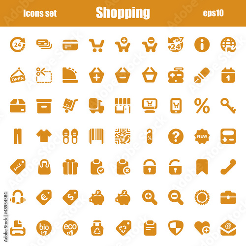 orange shopping