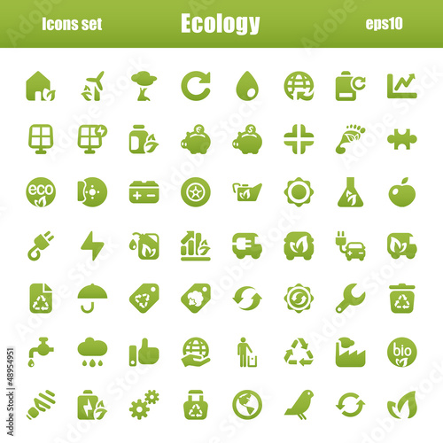 icons green ecology