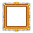 Gold Vintage Frame. Decorative Vector Object