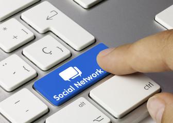 Social Network tastatur. Finger