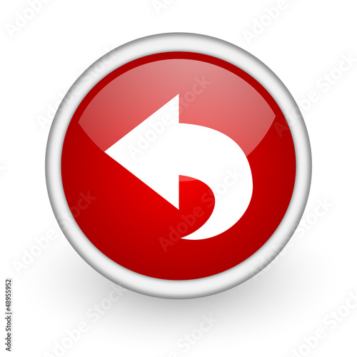 back red circle web icon on white background