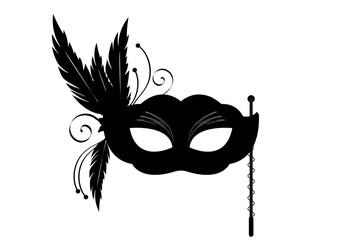 Sticker masque venise noir - Carnaval