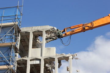 Demolition of an old building