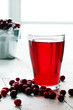 Cranberry juice and berries