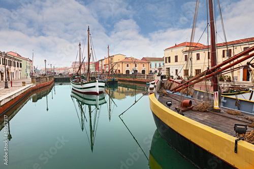 the harbor of Cesenatico
