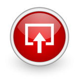enter red circle web icon on white background