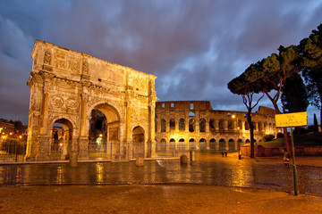 Colosseum and Arch
