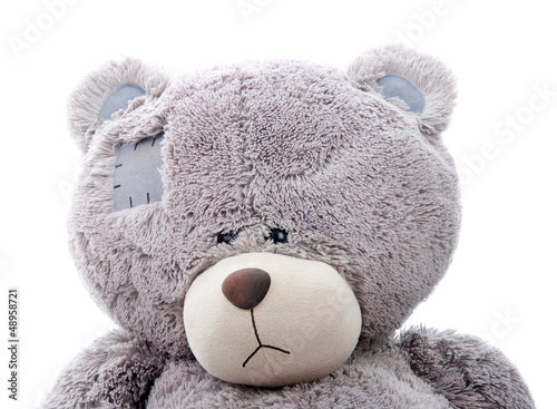sad teddy bear. Close-up