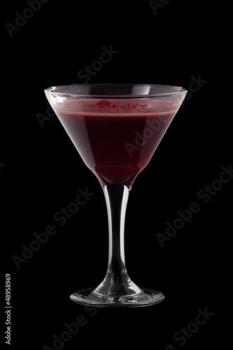 Raspberry Cosmopolitan coctail
