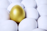 Gold egg in crowds