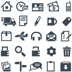 Universal set of icons for mobile applications and web sites.