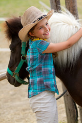 Pony and lovely girl