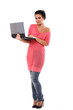Young beautiful woman with laptop