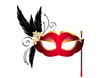 masque venise rouge et or - Carnaval