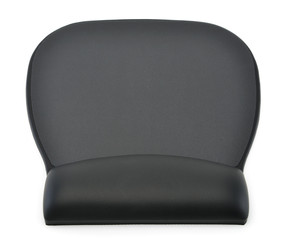 Ergonomic mouse pad with rest for wrist isolated on a white