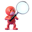 Superhero searches with a magnifier