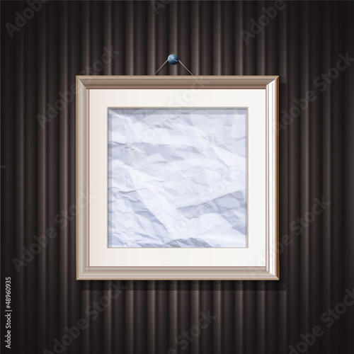 Framework on shadow background. Vector design.