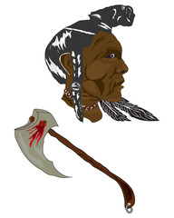 Native indian vector