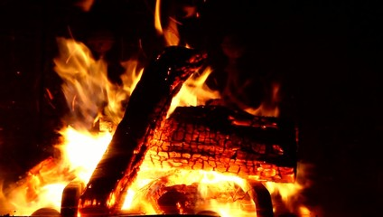 Wood on fire